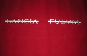 Scritte posteriori Lancia Fulvia coupè 2^